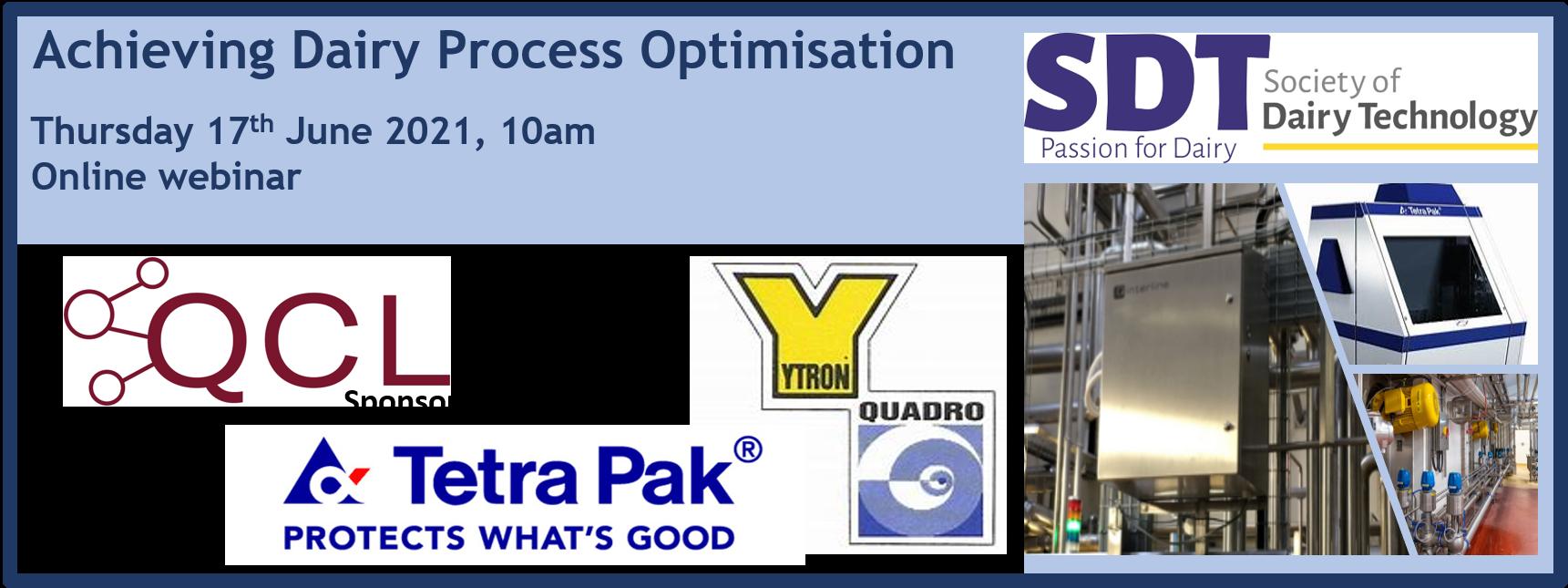 SDT webinar: Achieving Dairy Process Optimisation